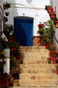 Treppenaufgang in Cómpeta